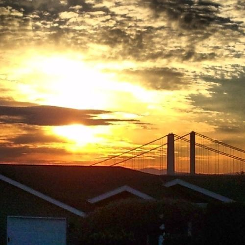 Another beautiful Tacomawa sunset @ TheTacomaNarrowsBridges 253 Ttown PNW NorthwestPride Washington WestCoast instafame instagood PugetSound StarboyLovesHisMoonchild moonchildbeauty HashtagAttack