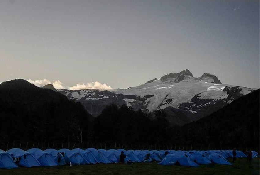 Camp 2 of the El Cruce De Los Andes Elcrucecolumbia 2015 in the border of Argentina and Chile Ultramarathon Elcrucedelosandes Running Trailrunning