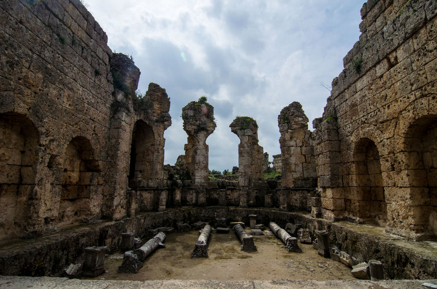 Ancient History Archaeology Perge Roman Ruins Roman Bath Ruins Turkey Anatolia Ancient Ancient Civilization Ancient Ruins Arch Archaeological Sites Archaeology Architecture Built Structure History Old Old Ruin Outdoors Roman Architecture Ruins Of A Past The Past Travel Travel Destinations