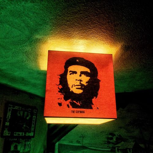 Yellow Red Green Iconic Cheguevara Che Guevara Communication No People Text Indoors  Sign Close-up Script Illuminated