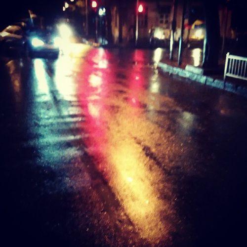 Bright coloured roads Itsraining Monsoon TrafficSignals Streetlights Lightswillguideyouhome Wetroads Ilovetherain