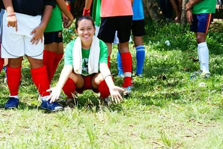 Soccer Green Lasalle Football Girls Footballgirls This was my first football game in my entire life life. At the end of that day, our team won as champions. First game. First win. Smile Happy