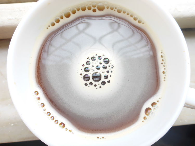 Coffee Cup Refelctions Bubbles