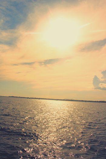 Water Sea Sunset Beach Sunlight Sun Backgrounds Silhouette Summer Idyllic