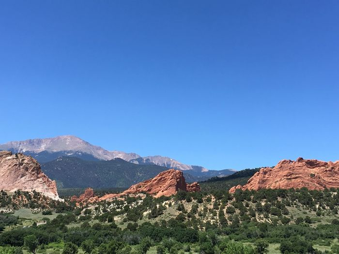 Garden Of The Gods Colorado Springs Landscape_photography Blue Sky Mountains Beauty In Nature Vacation Tourist Attraction
