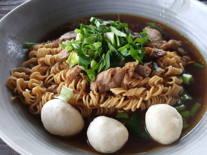 Yummy is instant noodle with porkball Food And DrinkEyeEm Selects Chinese Food Food Freshness Ready-to-eat Indoors  Healthy Eating Bowl No People Savory Food Serving Size Close-up Italian Food Dim Sum Day Noodle Soup Noodles Noodleaddict Porkballs Kwetiaw