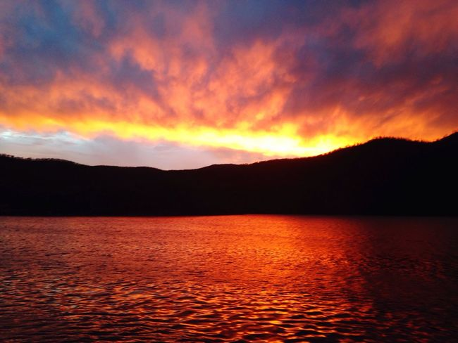 Fire Sunset! Sunset Sky Tranquility Scenics Orange Color Water Sea Cloud - Sky Bay Whitsunday Islands