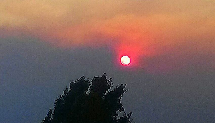 Northern California's smoke from undaunted wildfires does it's best to snuf out the sun.