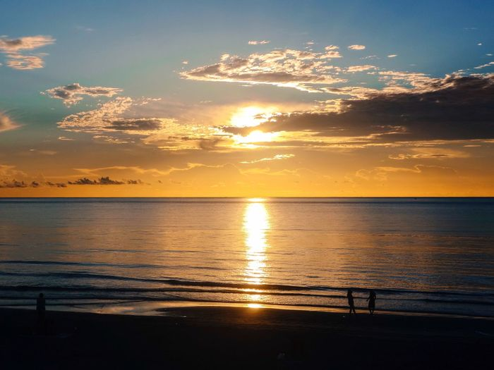 My Year My View Enjoying Life Watching The Sunrise Ocean Morning Beauty In Nature Scenics Water Nature Horizon Over Water Beach Outdoors Sky People