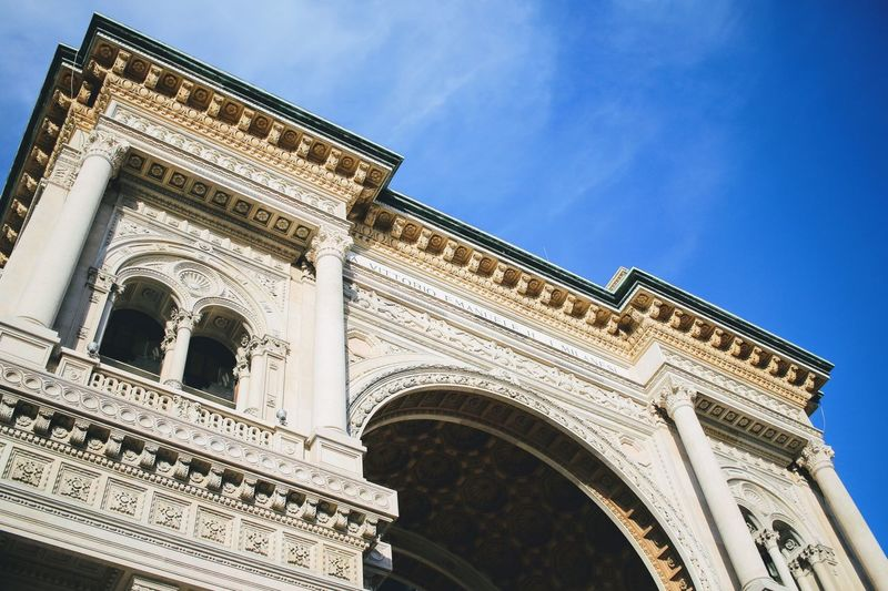 Architecture Building Exterior Built Structure Low Angle View Sky Arch Travel Destinations Outdoors Day History No People City Italy Milano