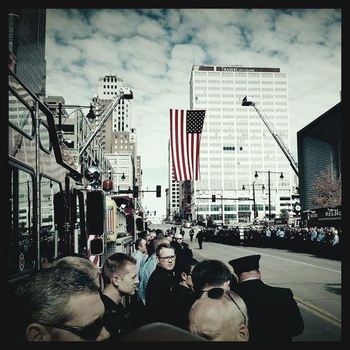 Firefighter Mesh & Leggio Service at Sprint Center Firefighter Sacrifice Firefightersmemorial Kansascitysbravest First Eyeem Photo