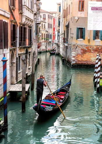 That's Amore Adult Adults Only Amore Architecture Building Exterior Built Structure Canal City Cultures Day Gondola - Traditional Boat Gondolier Nautical Vessel One Man Only One Person Only Men Outdoors People Transportation Travel Travel Destinations Venice Canals