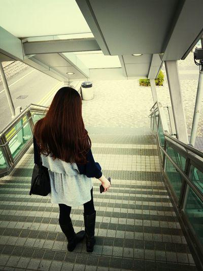 HongKong Passenger Foot-bridge That's Me