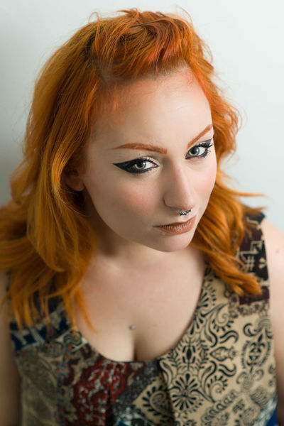 Young girl with septum piercing. Ginger Girl Headshot Makeup Makeupartist Piercing Portrait Young Young Adult Young Woman