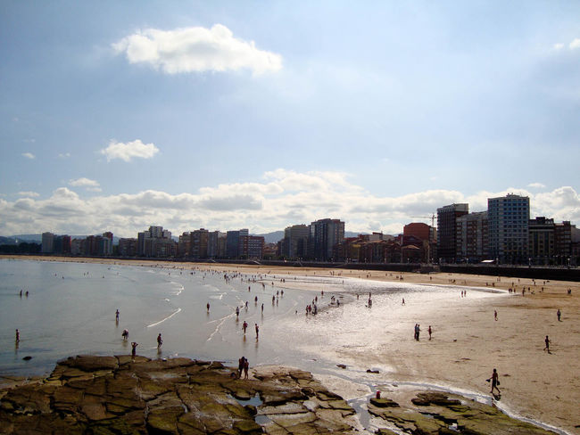 City Skyline Gijón Cantabric Sea Atlantic Lowtide  Low Tide Spring Beach Cloud - Sky Water Sky Lake Sand Outdoors Sport Day People City Cityscape Built Structure