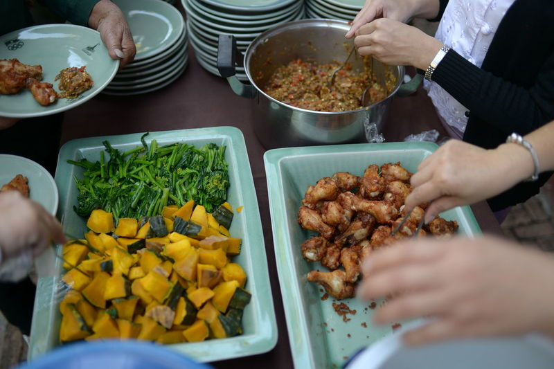 Asian food that is popular with the family.