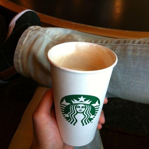 My morning :) Starbucks Chaitealatte Tuesday Morning atlanticstation hangout friends enjoyinglife viet vietnamese