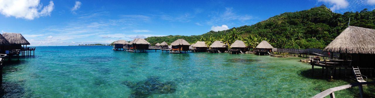 BoraBora Honeymoon Beachphotography Bungalow Beautiful Amazing View Sea And Sky FrenchPolynesia Lovely Weather Islandlife