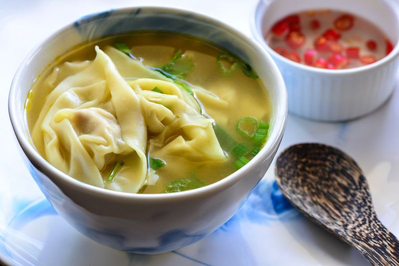 Food And Drink Bowl Food Freshness Healthy Eating Soup Ready-to-eat Indoors  No People Close-up Day Wanton Noodles Wanton Soup Soup Bowl Noodles Hungry Live To Eat