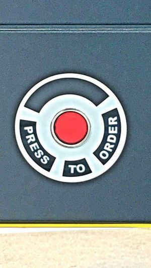 Ready To Eat Press The Button Red Button Push For Service No People Service