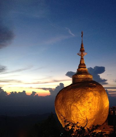 Ancient Buddhism Cultures Famous Place Goldenrock Myanmar Outdoors Place Of Worship Religion Spirituality Temple Travel Destinations