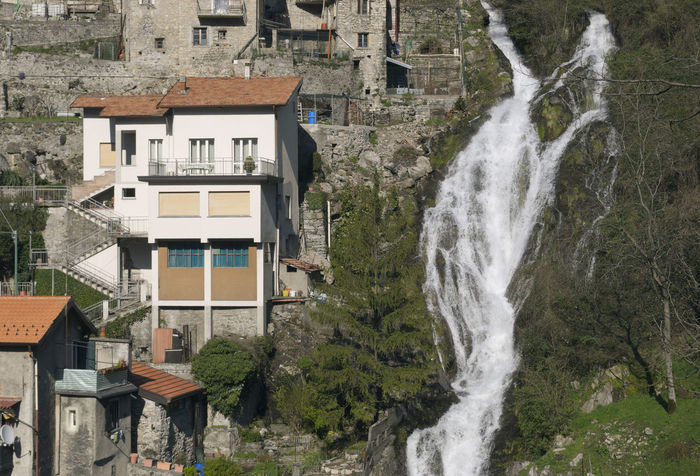 Orrido di Nesso waterfall, Lake Como, Itay Attraction Europe Horizontal House Houses Italy Italy❤️ Lake Como Landmark Mountain Nesso No People Orrido Scenic Scenics Sight Stream Travel Village Waterfall ıtaly