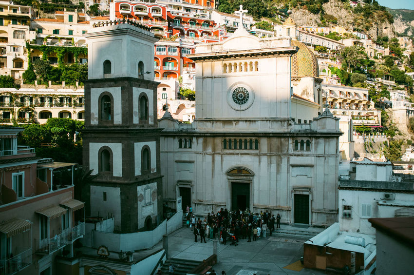 Architecture Building Exterior Church Façade Italy Positano Positano, Italy Sky Tower Town Vacation