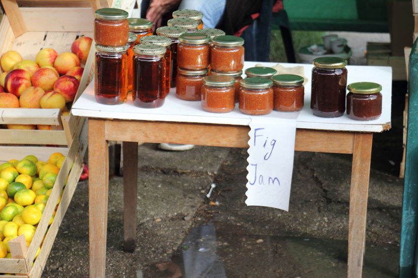 Honeys in unlabelled jar sold being together with other products at stall in Blagaj, Bosnia & Harzegovina. Blagaj Bosnia And Herzegovina Food Freshness Honey Jam Local Food Local Products Tourism