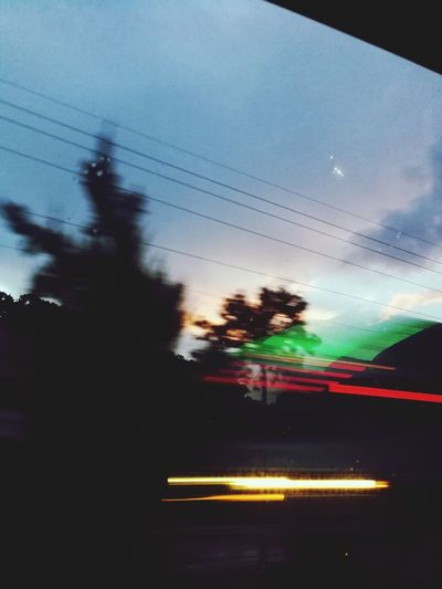 The way back. Guatemala 🇬🇹 ChikenBus Multi Colored Blurred Motion Illuminated Sky Cloud - Sky HUAWEI Photo Award: After Dark