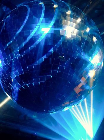 Blue Lights Beams Of Light Disco Ball Reflection Colour Of Life Re:publica RpTEN Archive 366