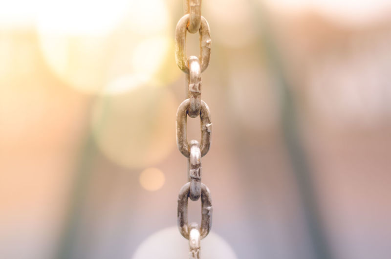 Close-up of chain