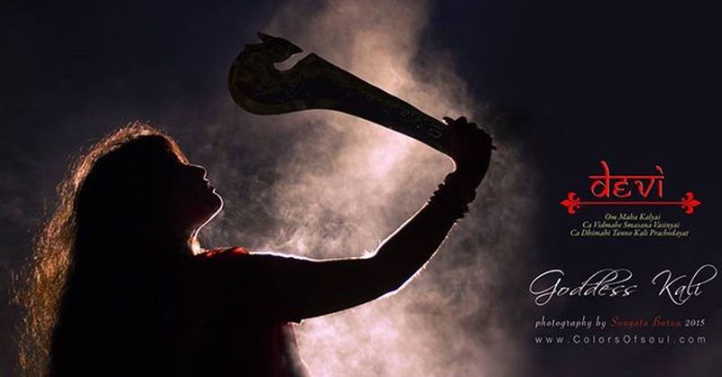 Devi God Goddess Kali Fantasia Theme Abstract Black Shore Drama Silhouette Colors Colorful Smoke Lighting Light Backlight Contour Concept Conceptart Photographylovers Photograph Photographyislifee Canon Canon600D colorsofsoul