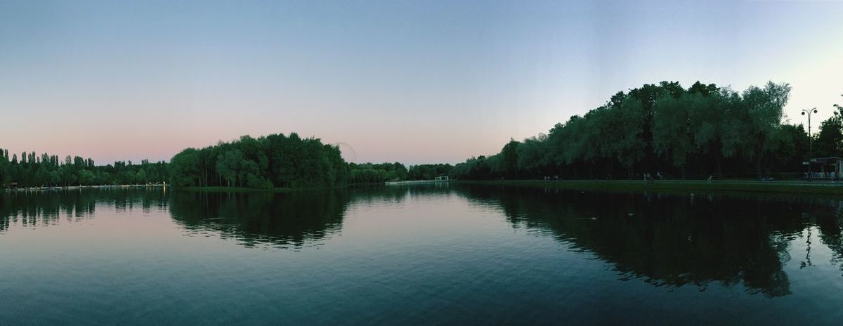 Природа вечер Panorama Panoramic пруд Закат Nature фон Water Reflection Sky Lake Tree Plant Tranquility Scenics - Nature Beauty In Nature Tranquil Scene Clear Sky Nature Waterfront No People Sunset Idyllic Non-urban Scene Copy Space Outdoors Reflection Lake