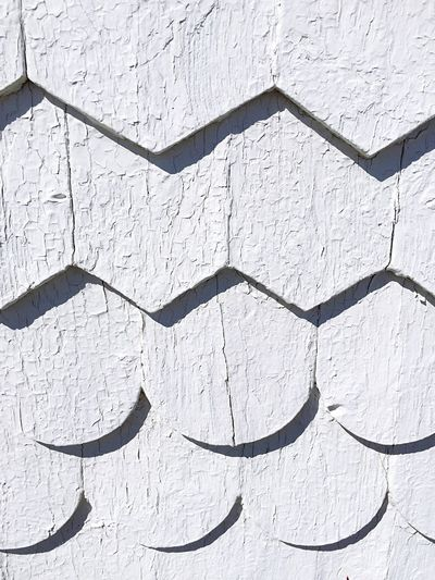 Full Frame Pattern Textured  Close-up Newfoundland, Canada Newfoundland Fogo Island Building Exterior Architecture Shingle House Geometric Shape White Wall Traditional Building Nautical Travel By The Sea Seaside White White Background Monochrome White Color Weathered Geometric Patterns The Week On EyeEm The Graphic City