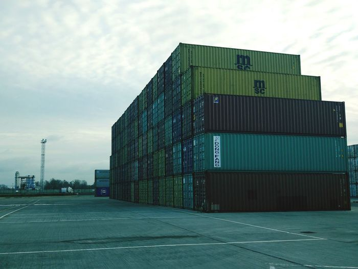 Port Cargo Container Industry No People Day Sky Outdoors First Eyeem Photo Colour Your Horizn