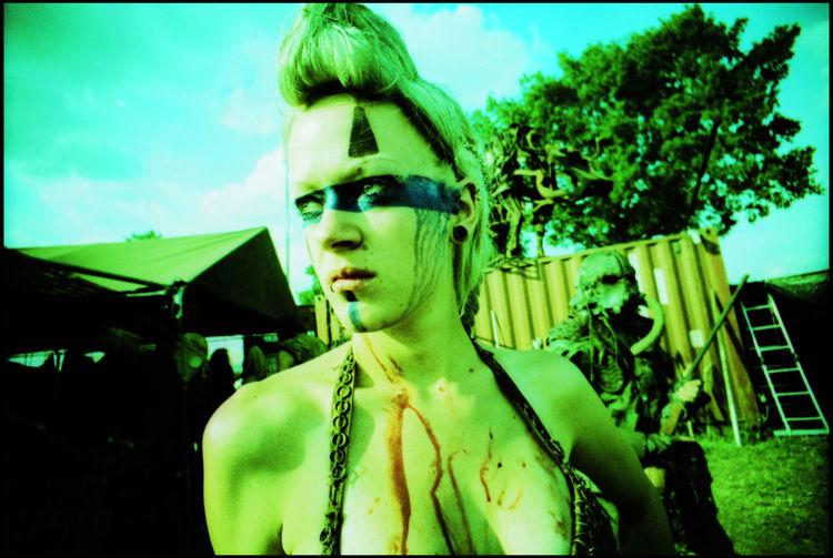 Wasteland Wacken Analogue Photography Apocalyptic Day Desert Festival Guns Hair Lomography Mad Max Roleplay Scrap Metal Sun Tents Trash Wacken Wastelander Watch Xpro