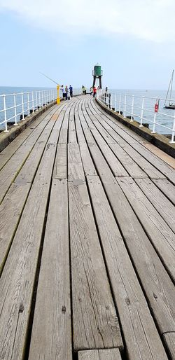 Walking Around Blue Sky Whitby Whitby View Whitby North Yorkshire Water Sea Full Length Sunlight Sky Pier