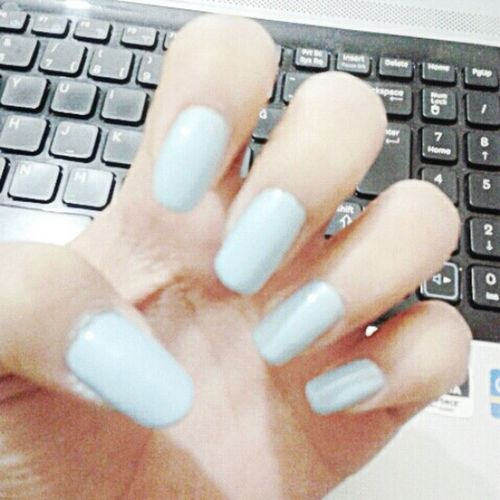My Nails  Nail Lacquer Blue Longnails ㅋㅋㅋㅋ ㅠㅅㅠ