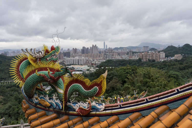 Animal Representation Architecture ASIA Building Exterior Built Structure Chinese Dragon Cityscape Cloud - Sky Day Dragon Dragon Formosa New Taipei City Outdoors Roof Sky Statue Taipei Taipei,Taiwan Taiwan Taiwanese Temple Templebuliding Travelphotography View