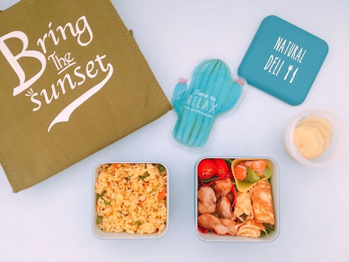 Lunch Box! Lunchbox Japaneselunchbox Ready-to-eat Food Curryfriedrice Eggroll Karaage