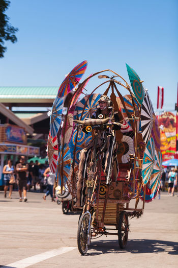 Costa Mesa, CA, USA - July 16, 2016: Dragon Knights steampunk stilt walkers perform at the Orange County Fair in Costa Mesa, CA on July 16, 2016. Editorial use only. Dance Day Dragon Knights Entertainment Fun OC Fair Orange County Fair Outdoors Perform Performance Performer  Performing Arts Steampunk Stilt Walkers Stiltwalker Theater Theater Life