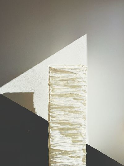 Close-up of wall with tissue paper ahead