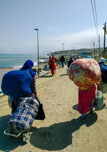 Ceuta Morocco People Working Northafrica SPAIN Migration Vendors Merchants Local People Travel Crossing The Border Fnideq Real People