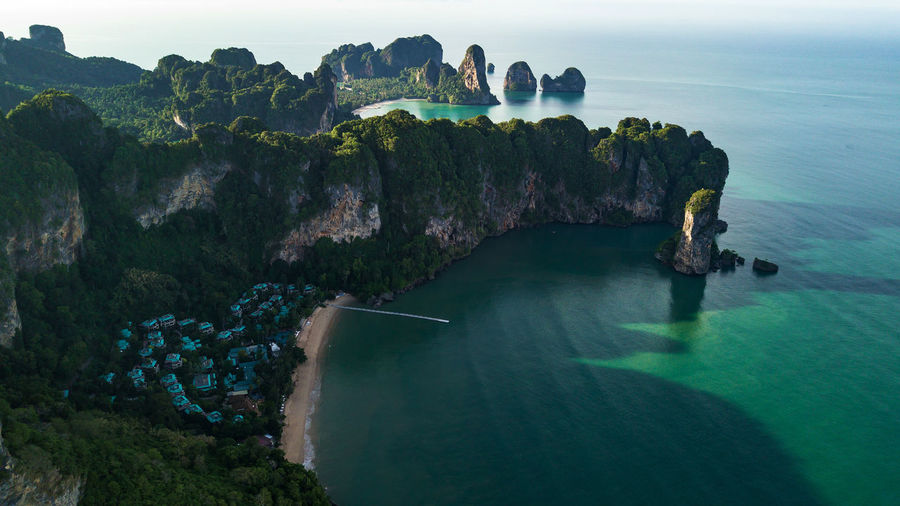 aerial view landscape of Mountain and Beach or seaside in Krabi Thailand . Sand ASIA NGA Nature Water Background Sea Summer Drone  Ocean Turquoise Cancun Island Sky Krabi View Landscape Mountain Beach Coast Calm Aerial Panoramic Phang Shore Paradise Andaman Blue Phi Thailand Beautiful Travel Forest Top Bay White Wave Vacation Tourism Tropical Seaside Scenics - Nature Rock Tranquil Scene Rock - Object Beauty In Nature Tranquility Solid Rock Formation High Angle View No People Day Land Idyllic Non-urban Scene Cliff Outdoors Horizon Over Water Stack Rock Turquoise Colored