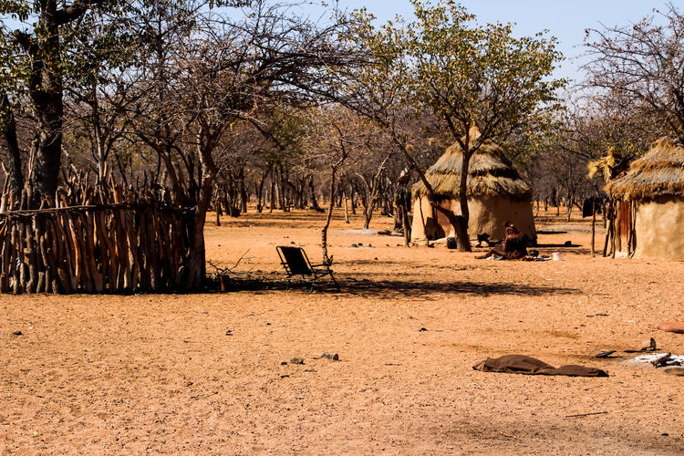 Living in a village in Namibia South Africa in the wilderness Freedom Lucky Namibia South Africa Wildlife & Nature Africa Beauty In Nature Huts Linving Nature Outdoors Serving Simplicity Sky Tree Villiage Wildness