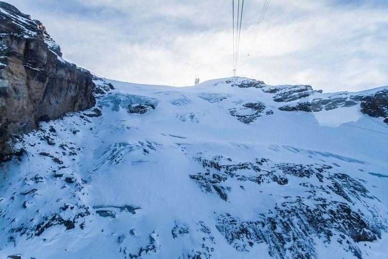 Close-Up Of Ski Lift Against Sky