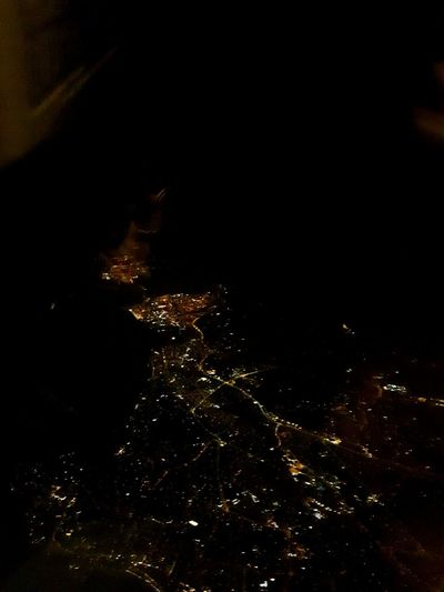 Photorichy Landscape From An Airplane Window From Above  Night Dark Illuminated No People Star - Space Space Outdoors Black Background Nature Sky Satellite View Beauty In Nature Close-up Astronomy