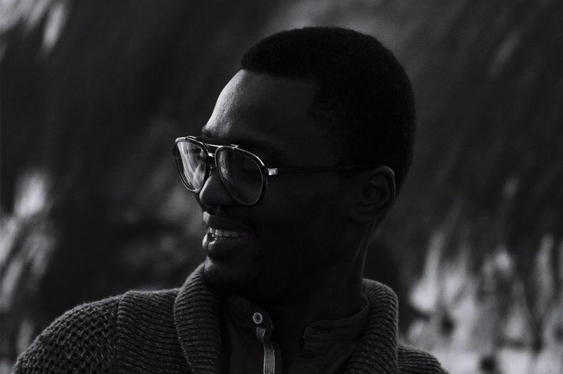 Black men Portrait Portrait Photography Blackandwhite Lifestyles Lifestyle Black Men Smile Eyeglasses  Headshot Black Background Men Close-up The Portraitist - 2019 EyeEm Awards
