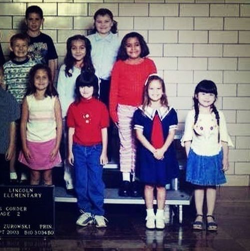 #tbt just being a sailor girl for 2nd grade class pictures #nbd