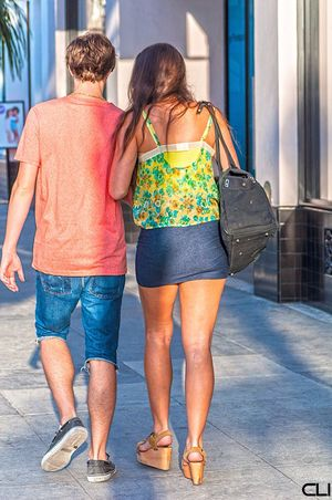Streetphotography Streetfashion Pasadena  Platform Sandals Miniskirt